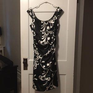 London Times black & white floral dress